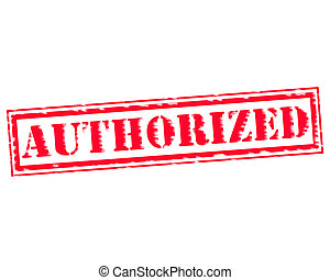 AUTHORIZED RED Stamp Text on white backgroud