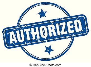 authorized round grunge isolated stamp