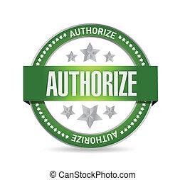 authorized seal stamp illustration design