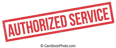 Authorized Service rubber stamp