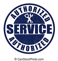 Authorized service stamp