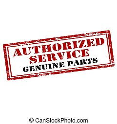 Authorized Service-stamp - Grunge rubber stamp with text ...