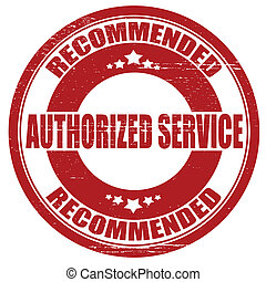 Authorized service - Stamp with text authorized service ...