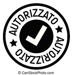 authorized stamp in italian