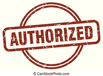 authorized stamp isolated on white