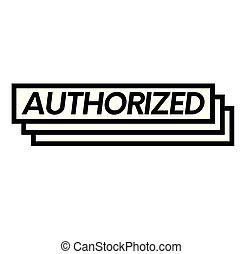 authorized stamp on white