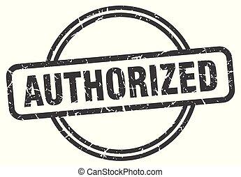 authorized vintage stamp. authorized sign