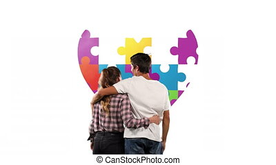 Autism awareness animated video - Digital composite video of...
