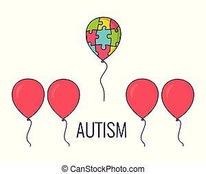 Autism awareness balloon poster