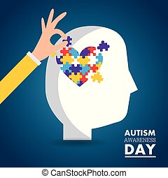 autism awareness day card health medical invitation
