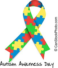 Autism awareness day. Card or poster template. Vector...
