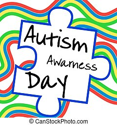 Autism awareness day. Card or poster template. Vector illustration
