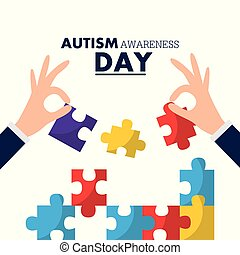 autism awareness day card solidarity event