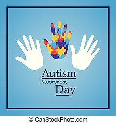 autism awareness day hands support event medical