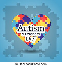 autism awareness day puzzles shape heart medical care