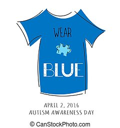 Autism awareness lettering - Vector hand drawn lettering....