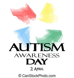 Autism Awareness Month. Watercolor symbol of autism.