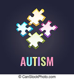 Autism awareness puzzle poster