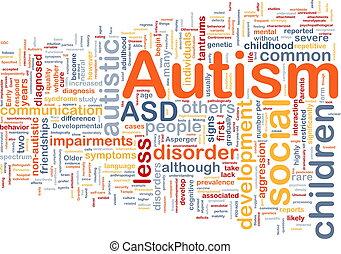Autism background concept - Background concept wordcloud...