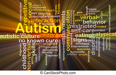 Autism background concept glowing - Background concept ...