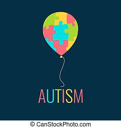 Autism card template - World Autism Day. Autism awareness...
