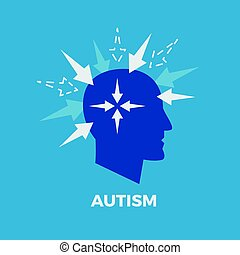 Autism. Concept vector illustration