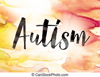 Autism Concept Watercolor Theme
