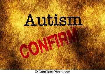 Autism confirm grunge concept