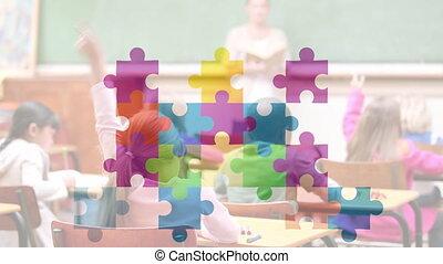 autism, conscience, animé, vidéo