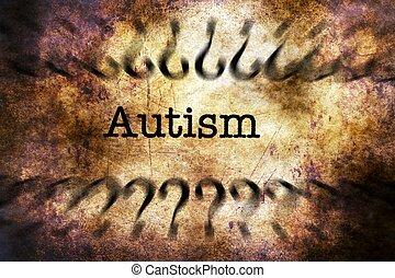 Autism disorder grunge concept