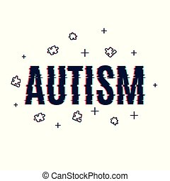 Autism glitch poster - Autism awareness poster made with...