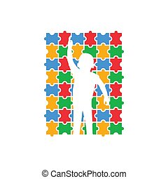 Autism icon design template vector isolated illustration