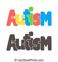 Autism jigsaw puzzle text