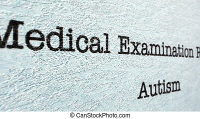 Autism medical report