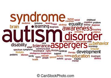 autism, palavra, nuvem