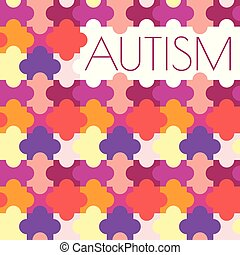 Autism puzzle poster - Autism awareness poster with jigsaw...