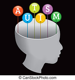 Autism Silhouette - A silhouette of a person with the...