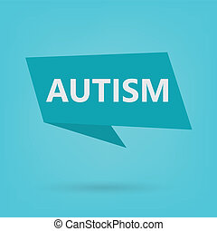 autism word on a sticker- vector illustration