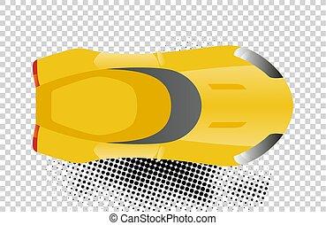 auto., żółty, projektować, pojęcia, sport, przewóz, design., ikony sieći, górny, odizolowany, tło., biały, płaski, automobile., ilustracja, doręczenie, illustration., infographic, wóz, wektor, albo, prospekt