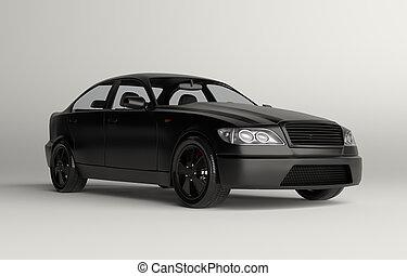 auto, 3d, luxus, abbildung, sport