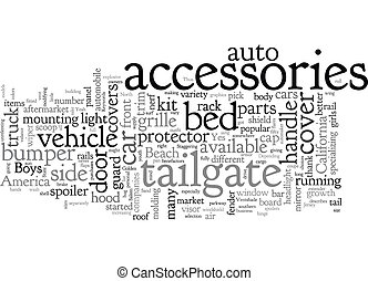 Auto Accessories text background wordcloud concept
