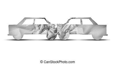 Auto Accident Concept - Auto accident and car crash concept...