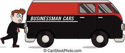 auto, anschieben, kaufleuten zürich