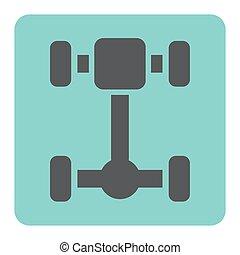 auto, as, pictogram