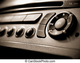 Auto audio control buttons