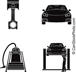 vektor satz heiligenbilder auto symbol web aufzug vektor clipart suchen sie. Black Bedroom Furniture Sets. Home Design Ideas
