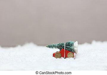 auto, baum, spielzeug, weihnachten