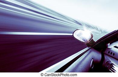 auto, begriff, geschwindigkeit