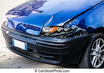 auto, beschadigd