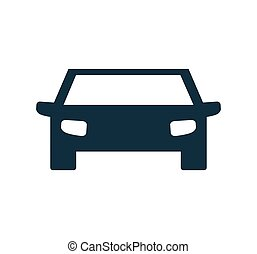 auto blue car transportation icon. Vector graphic